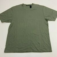 Claiborne T-Shirt Mens XXL Green V-Neck Short Sleeve Casual