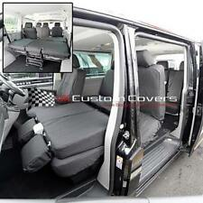 VW T5 T6 SHUTTLE - 9 SEATER TAILORED SEAT COVERS - BLACK 2003 ON 103 212 213 245