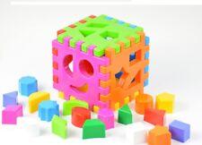 Steckspiel Sortierspiel Formensortier Spiel Baby Spielzeug Blöcke 24 tlg NEU