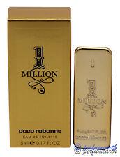 1 MILLION MINI 0.17 OZ/5 ML EDT SPLASH FOR MEN BY PACO RABANNE NEW IN BOX
