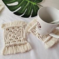 Boho Makramee Untersetzer Rechteck Handarbeit Weben Tischset Table Mat Deckchen