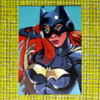 Batgirl original painting 1/1 signed sketch card