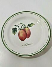 Williams Sonoma Heirloom tomatoes salad plate Tree tomato green trim
