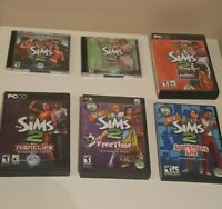 The Sims 2 for PC with Several Expansion Packs - Activation Codes and Booklets
