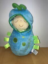 Swaddled Baby Boy Plush Toy Doll Snuggle Bug Pod Blue Manhattan Toy Taggy Cuddly