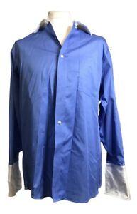 Donald J. Trump Men's Button Up Shirt Blue Color Size 16.5-32/33