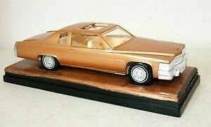 RARE Vintage JO-HAN Dealer PROMO 1978 CADILLAC COUPE DEVILLE Gold Model Car
