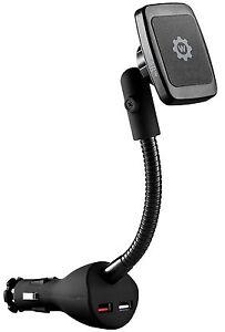 WizGear Universal Magnetic Power Socket Mount Holder w Dual USB Charging port.