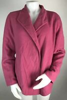 Eileen Fisher Small Women's Sweater Coat Wool Jacket Pink Oversized Relaxed