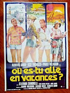 R@RO MANIFESTO FILM 160 X 120-ANNI 70 - Où es-tu allé en vacances -RIF.N.42