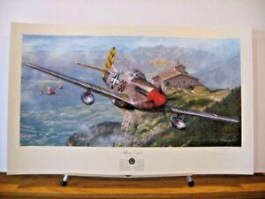Alpine Eagles P-51 Mustang John Shaw Signed Aviation Art + Bonus