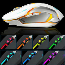 2.4GHz Wired USB Optical Ergonomic LED Light Gaming Mouse UK
