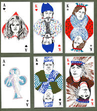 RARE Old Playing Cards Semi- Transformation unique art & colours * MUST SEE #054