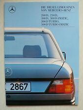Prospekt Mercedes W 124: 200 D, 250 D, 300 D/TurboD/4Matic, 1.1988, 40 Seiten