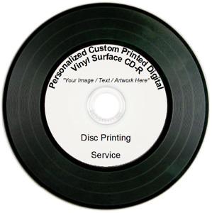 1 - 100 Promotional Custom Printed Digital Vinyl Surface CD-R  Disc Printing ⏺