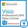 Microsoft Visio 2016 PRO Professional Original MS Pro ESD Download Vollversion