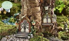 FAIRY GARDEN Miniature ~ Glow-In-The-Dark Vine Lamp Fairy Door & Window ~ Min...