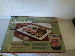 SUSHI PLATTER & 4 MARKERS IN ORIGINAL BOX IN NICE CONDITION. PLEASE SEE PHOTOS.