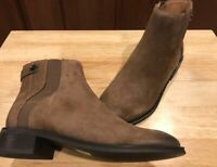 Franco Sarto Brandy Leather Side-Zip Ankle Boots Women's 7 M Brown 7M ~