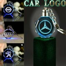 New LED Car Logo Keychain Fairy Light Changing Keyring Car Key Chain Key fob UK.
