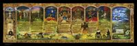 Signed & Numbered Gold Scroll of Milton's Paradise Lost by Terrance Lindall