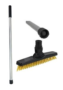 Short Handled Grout line cleaning Scrubbing Brush Kit (Yellow) Thats Awesome
