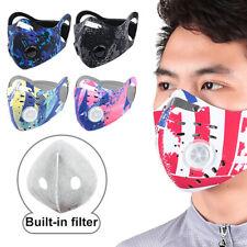 Masque de bouche de visage de valve de respiration de cyclisme en plein air