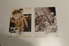2001 ARMY 100 YEARS OF SERVICE ARMY MILITARY STAMP MAXI CARD SET
