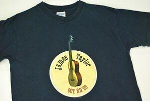 Vintage Y2K James Taylor Oct Rd 2003 T Shirt October Road Blue Youth Boys L