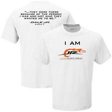 Dale Earnhardt Jr I Am Jr Nation White Tee - Shirt Adult XXL # 88 - Free Ship