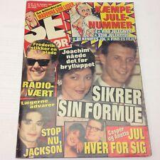"Michael Jackson Madonna Front Cover Photos Danish Magazine 1995 ""Se og Hoer"""