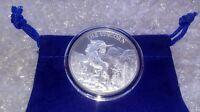 1 oz Fine Silver .999 Unicorn Forklore High Relief Round w/ Capsule & Coin Pouch