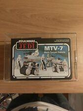 Star wars regreso del Jedi MTV-7 Multi-terrain vehículo Palitoy AFA80 bi-logo