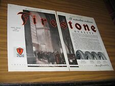 1928 Print Ad Firestone,Oldfield,Courier,Airway Tires People Enter Auto Show