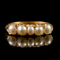ANTIQUE VICTORIAN PEARL RING 18CT GOLD CIRCA 1900