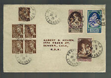 1939 paris France Cover to USA # B90-B92