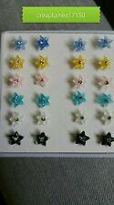 Lot d une boîte de 12 paires antiallergique boucles d'oreilles
