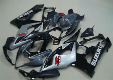 Injection For Suzuki GSXR1000 K5 K6 05 06 Bodywork Fairing Frame Silver Black