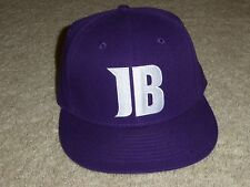 """JB"" JUSTIN BIEBER BALL CAP PURPLE, ""THE FITTIE"" SIZE 7 1/4, NWOT, FAST SHIP !!"