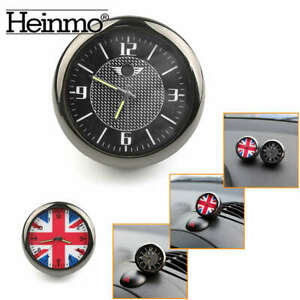 Car Dashboard Air Vent Clip Clock Quartz Analog Watch Luminous For MINI Cooper