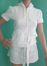 Juicy Couture size P XS  terry set short sleeve hoodie and skirt