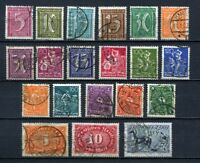 German Reich : Complete INFLA set from 1921 - used - value Euro 1600 !!!