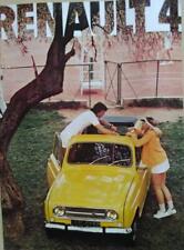 Renault 4 Lusso, Export, depliant brochure originale