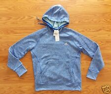 NWT Womens ADIDAS Blue Heather Fleece Pullover Hoodie Jacket Polyester Size XL