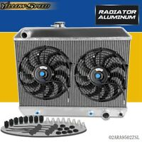"""64 65 GTO//Lemans//Tempest Radiator Fans,2-12/"""" 130W Electric Fans /& Relay Kit"""