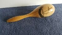 "Vintage 10"" Wood Maraca Rumba Shaker Musical Instrument  C5"