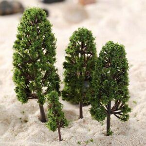 """20Pcs 2-4"""" Model Trees 1:100-300 HO N Z Scale Train Railway Wargame Park Scenery"""