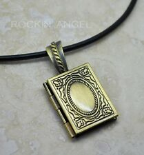 Bronze Plt Photobook Locket Pendant  Necklace photo frame gift ladies, girls