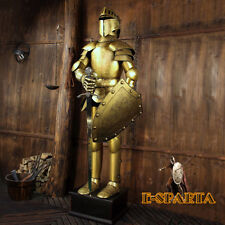 Medieval Crusader Knight in Suit of Armor with Sword and Shield 6.5FT high