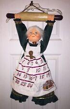 Annalee  Mrs. Claus countdown Gingerbread  calendar 2003 vintage